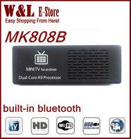 Free Shipping Original MK808B Andriod TV Box Dual Core RK3066 1GB RAM 8GB ROM Bluetooth HDMI WIFI Android 4.2.2 TV Box Stick