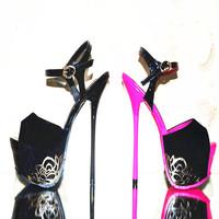 Sexy 14.5 cm High Heel Sandals for Summer Stiletto High Heel Party Sandals Pumps Butterfly Cool High Heel Sandals Beautiful F27
