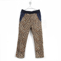 2013 New Fashion Spring Autumn Leopard Print Trousers for Boys and Girls Long Length Pants With Pocket Children Clothes Retail
