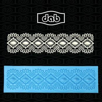 Free Shipping DAB fondant cake silicone lace decorating tools baking cupcake decorating lace moulds bakeware cake mold TS40005