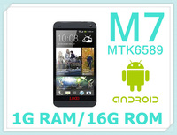 free shipping New arrival original 1:1 ONE1:1 M7 Android 4.21 RAM 1GB ROM 16GB GPS quad core 12.1MP perfect(NVDM)