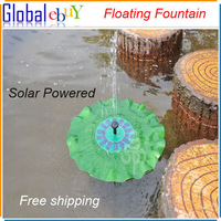 Floating Solar Panel Powered Fountain Pond Water Feature Cascade Garden Pool Kit Freeshipping 1 pcs