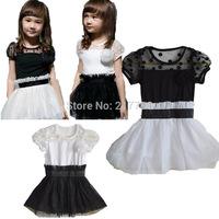 new hot Children's Clothing Dresses dress girl two colors vintage dress girls clothes children clothing girl dress 17