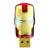 Hot Sale Avengers Iron Man USB Flash iron man Drive 2GB 4GB 8GB 16GB 32GB  Free Shipping
