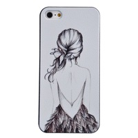 Vintage British Style Girl Protective Back Cover Case for iPhone 5 5G 5S
