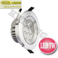 4PCS/Lot 7W LED ceiling spotlight Epistar Warm Cool White AC220V led lamp bulb home lighting spot light two-year warranty