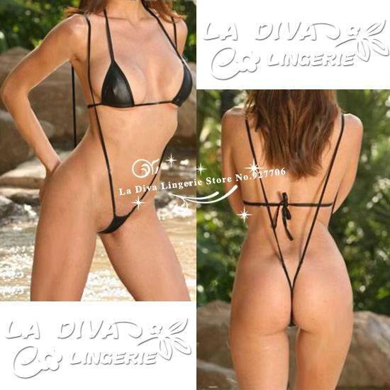 Open crotch suspender bikini