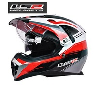 Free shipping 2014 new high-end LS2 Motorcycle Helmets / dual lens sport utility vehicle airbags adjustable full-face helmet