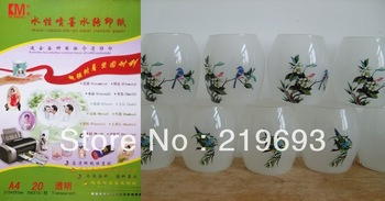 A4 size,inkjet water decal transfer printing melamine paper,free shipping