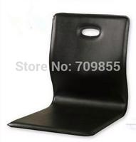 (6pcs/lot)  Floor Sitting Faux Leather  Zaisu floor black leather chair