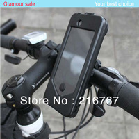 Black Waterproof case Bike4 bicycle bike car navigator Mobile Phone Holders Stands for iPhone4/4s free shipping