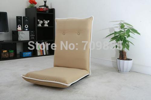 Frete grátis Início Sala Chair Piso assento dobrável Salão Tecido reclinável cadeira(China (Mainland))