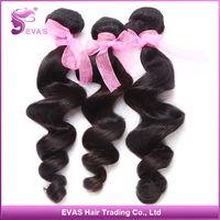 Fast Shipping Unprocessed EVAS Hair Peruvian Loose Wave Virgin Hair Human Hair Weave Top Grade 6A Virgin Hair Mix 3pcs/lot