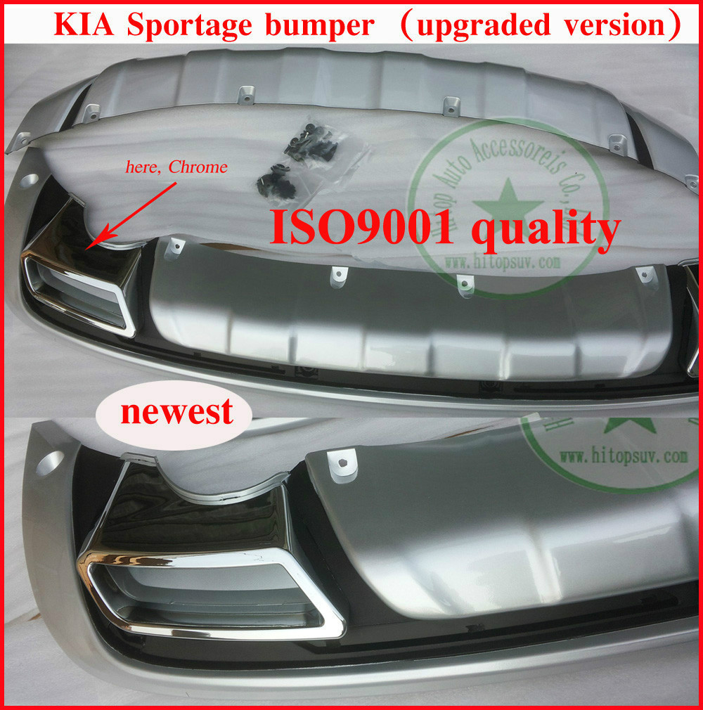 KIA SPORTAGE bumper protector/ bumper guard/skid plate/bull bar, front+rear, ISO9001, slap-up quality, free shipping,2011 2012(China (Mainland))