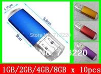 Bulk Sale 10PCS/lot  Wholesell 1GB/2gb/4gb/8gb/16gb USB Pen 2.0 Drive assort colors Memory flash pendrive stick