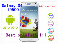 Free shipping New arrival original 1:1 Galaxy I9500 i9505 S4 phone MTK6589 Quad core 1.2Ghz Android 4.22 12MP RAM 1GB ROM 8GB