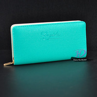 Promation 2013 korea new designer women clutch fashion wallet genuine PU leather coin purse 8 colors free shipping HD181
