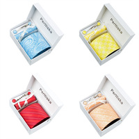 New Men Classic Tie necktie sets Man's plaid Striped Ties Necktie Blue red Neckties Tie clip Hankie Gift Box 2014 Hot Spring
