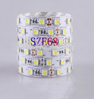 Non-waterproof DC 12V SMD 5050 LED strip light ribbon 5 meters 300 leds Cool White/Warm White/Red/Green/Blue/Yellow Free Ship