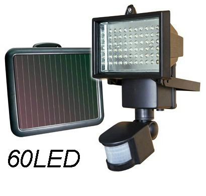 Förderung solarpanel führte hochwasser Sicherheit Garten licht mit pir-bewegungsmelder 60 leds Weg wandleuchten outdoor-notfall spot lampe