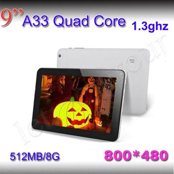 2015 новый андроид 4.4 800 * 480 HD экран 512 МБ / 8 г бесплатная доставка андроид планшет пк четырехъядерных процессоров двойная камера 9 дюймов а33 планшет пк