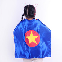 Double layer Children or kids gift presents Theatrical Performances Captain America Cape, poncho,cloak, robe,mantle,dress smock,