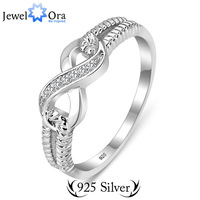 925 Sterling silver Jewelry Rings for Women 925 Certificate #RI101087  Brand Rings Endless Love S925 Stamped Lady Infinity Ring