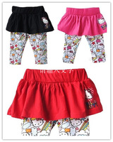 Free shipping Baby Girls Hello Kitty Culottes Baby Skirt Pants Kids Leggings