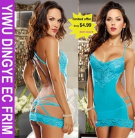 2014 New Hot Spandex Babydoll  Women Sexy  Lace Baby Doll Sexy Lingerie,Sexy Chemise, Sleepwear for Women