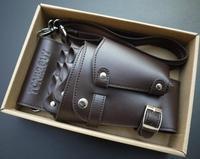 TONl& Senior PU / rust buckle hairdressing tool bag cover ,scissors bag tool bag waist pack