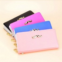 new fashion lady women long classic simple style solid purse quality wallet clutch bag free shipping handbag card holder gift