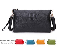 Factory Sale New 2014 Genuine Leather Women Clutch Vintage Crocodile Pattern Shoulder Bags Evening Party Messenger Drop Shipping