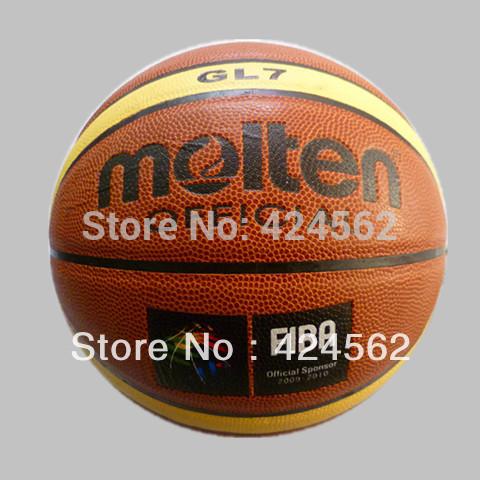 2014 Free Shipping Molten Basketball GL7 Size7 basketball PU Materia basketball ball 7 lot Free with ball pump+net bag+2pcs pins(China (Mainland))