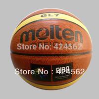 Free Shipping Molten Basketball GL7 Size7 basketball PU Materia basketball ball 7 lot Free with ball pump+net bag+2pcs pins