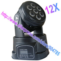 Free Shipping 12 pcs/lot Factory Directly Sale 7*10W RGBW 4 in 1 LED Moving Head Light