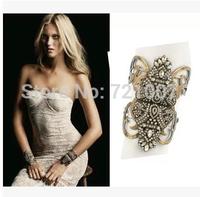 Gold Bracelet Trendy Women Stone Vintage New 2014 Hot-Selling National Gold Trend Fashion Full Rhinestone Harmes Bracelet
