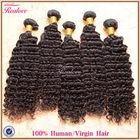 brazilian deep wave human hair extensions 6pc 8''- 30'' brazilian virgin hair brazilian hair weaves Realove brazilian curly hair