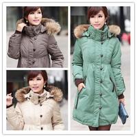 6XL 5XL 4XL XXXXL womens winter coats Genuine Natural Raccoon Fur Collar Down coat  Plus size Women's long parka thicken jacket