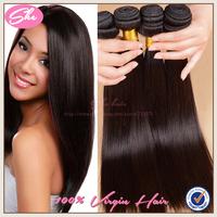 "She 6A peruvian virgin hair straight 3pcs/lot,peruvian hair weaves natural black hair can be dyed,8""-30"" human hair extension"