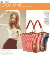 2013 Fashion Handbags for Women Messenger Bags Stripe Street Snap Candid Tote Canvas Bag canvas vertical stripe handbag