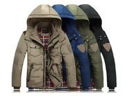 Winter duck down coat male short design men's clothing thickening outerwear male NNSC01