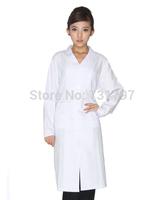 Free Shipping Medical Clothing/Medical Coat/White Medical Gown/Lab Coat/Coat Lab