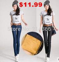 Free shipping 2014 fashion woman jeans harem denim pencil pants Woman Tight Pencil Jeans Straight Pants  Trousers Woman Jeans