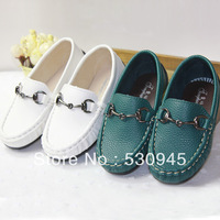 new 2013 Child boat Shoes  Gommini Loafers Metal Buckle Children Shoes Big Boy Single Shoes Casual Shoes Kids Sandals Girl shoes