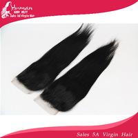 "Cheapest lace top closures 3.5x4""swiss lace closure brazilian virgin hair bleached knots straight hair ,Free shipping"