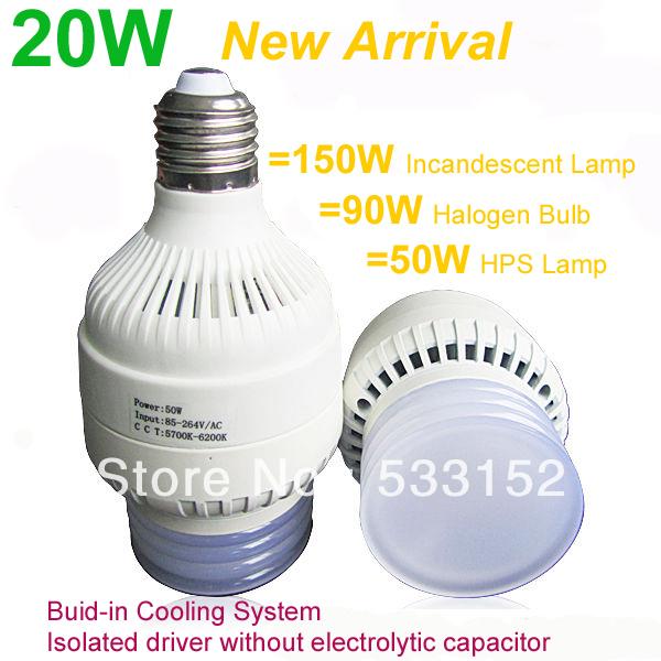 20W led bulb light E27 210degree beam angle 85~265V to replace the energy-saving bulb, incandescent bulb free shipping(China (Mainland))