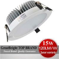 wholesale 2PCS/LOT LED 15W led recessed downlight 3year warranty  85-265V including 110V 220V 240V