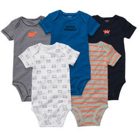 10 Colors Retail, Original Carter's Baby Boys Crab and Elephant Model Bodysuit, Carters Boys Romper, freeshipping