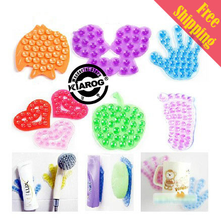Free Shipping New Double Magic Plastic Sucker, Super Strong Double Sided Suction Cup.Bathroom Accessories Y-050.(China (Mainland))