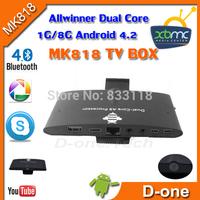2013 Newest Arrival !!!! MK818 RK 3066 DualCore  Smart TV Box XBMC Skype webcame Cortex A9 1G DDR 8G Flash Android 4.2 mini pc